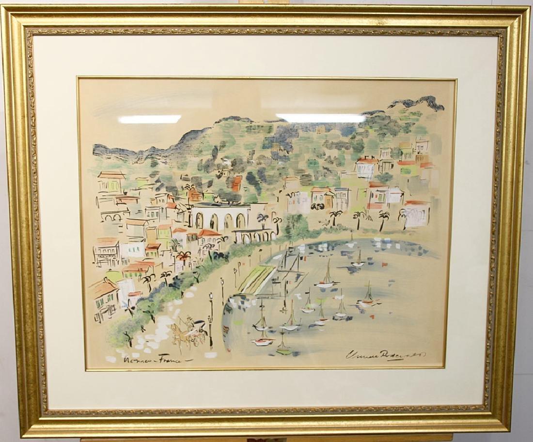 French School Watercolor, Landscape