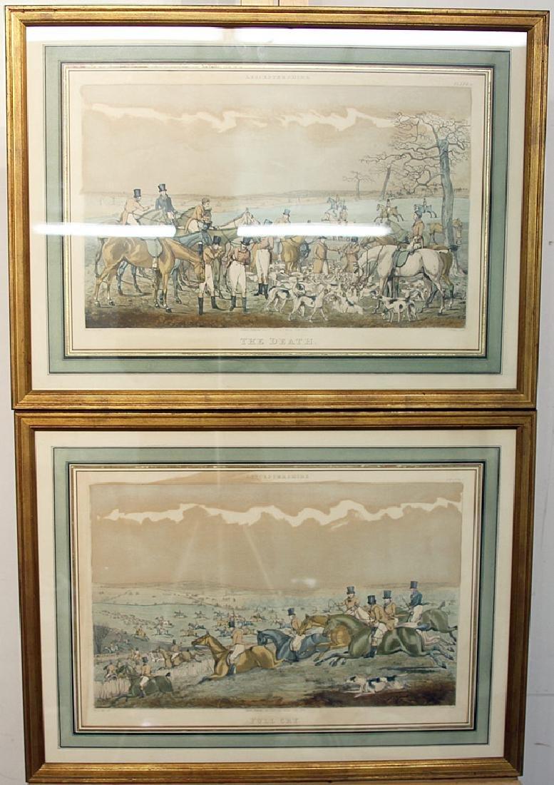 Two Hunt Scene Lithographs, After Henry Alken
