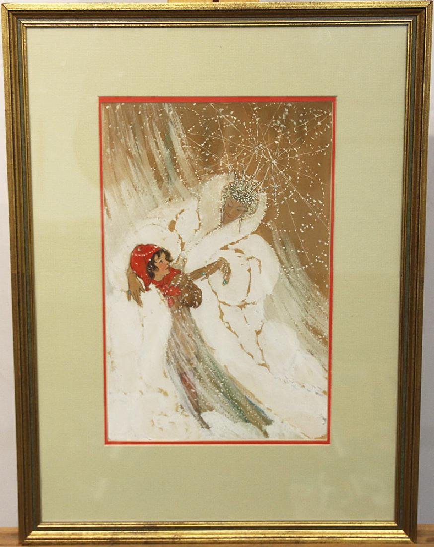 Elenore Plaisted Abbott Watercolor, The Snow Queen