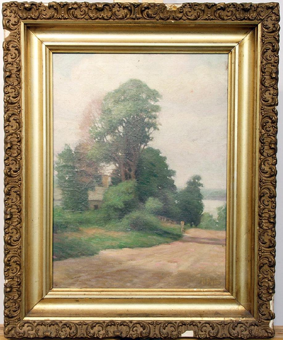 Attrb. Howard Pyle Oil on Canvas, Landscape