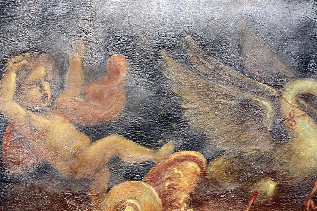 Pr. of Italian School Oils on Paper, Cherub Scenes - 2