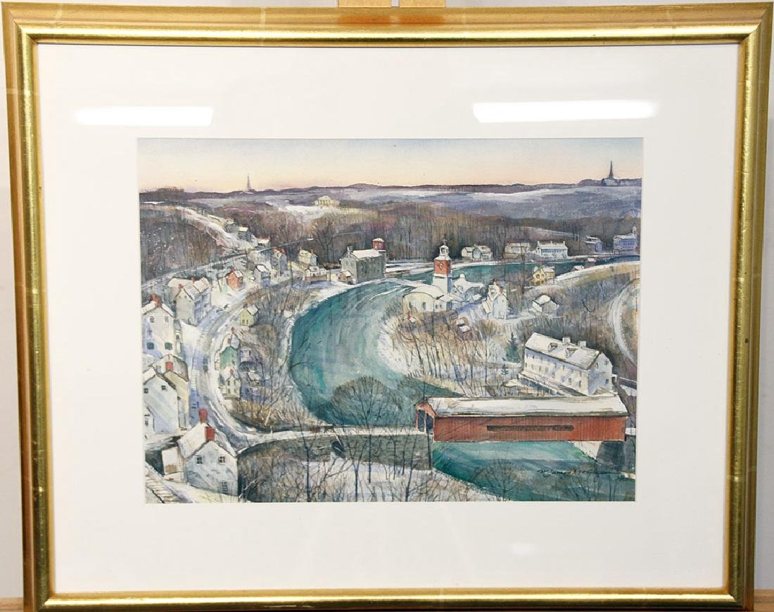 James McGlynn Watercolor, Brandywine River