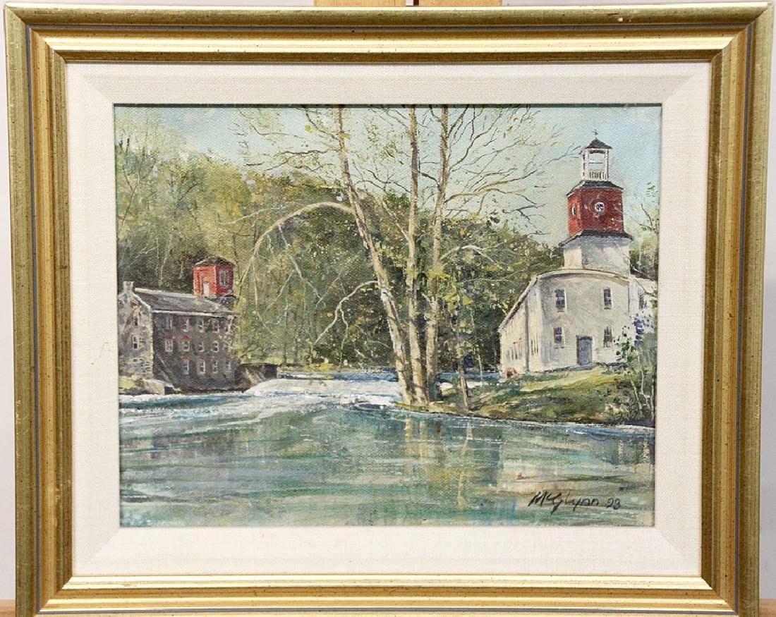 James McGlynn Oil/Canvas, Breck's & Walkers Mill