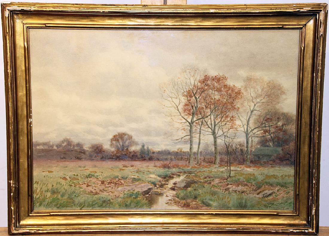William Crothers Fitler Watercolor, Landscape