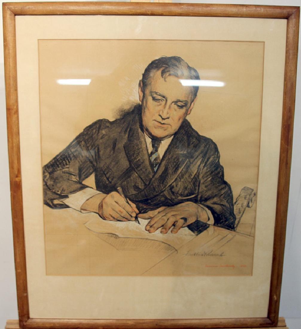Maurice Molarsky Pastel, Portrait of FDR