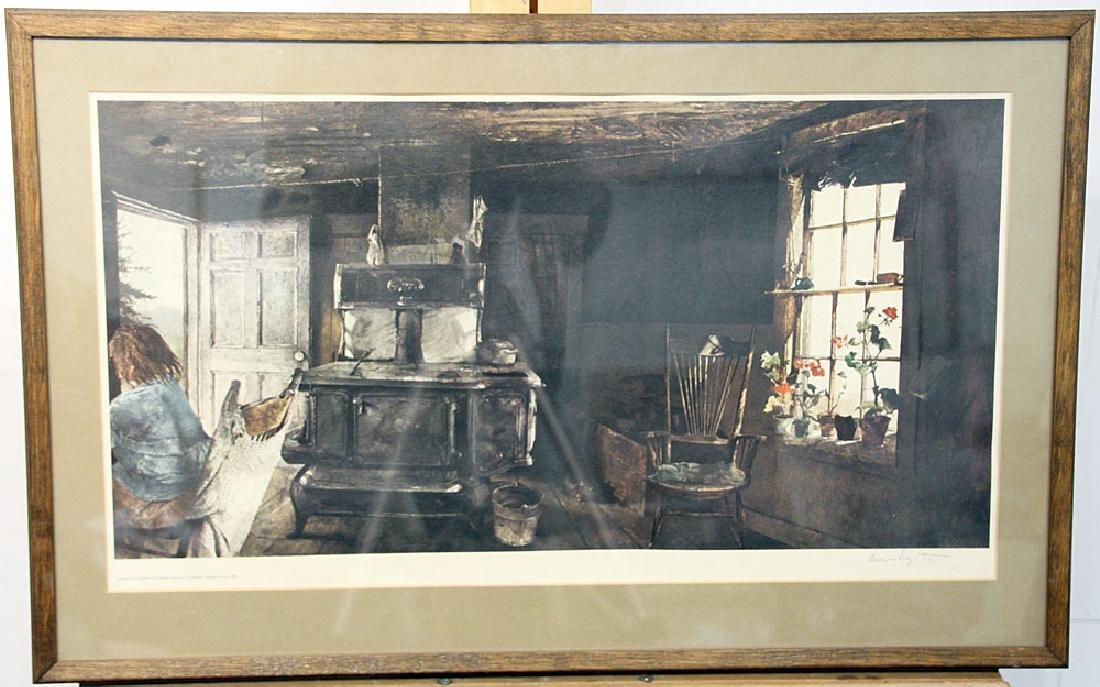 Signed Andrew Wyeth Print, Woodstove