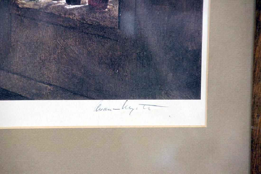 Signed Andrew Wyeth Print, Woodstove - 2