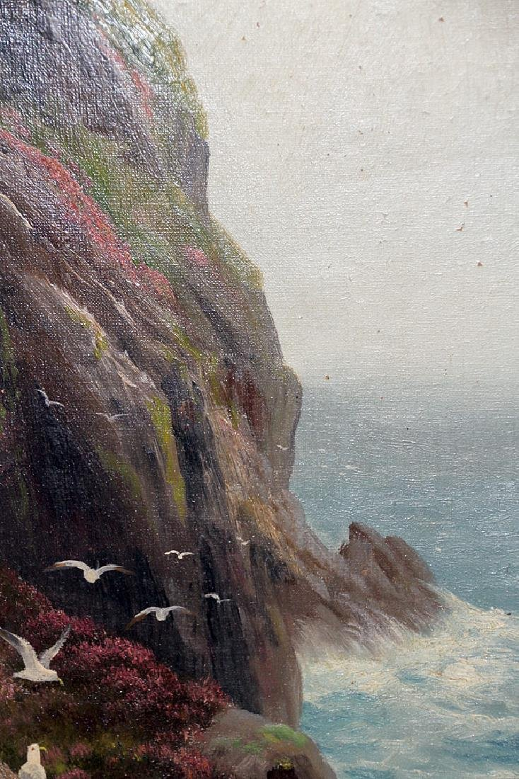 Pair of Daniel Sherrin Oil on Canvas Seascapes - 3