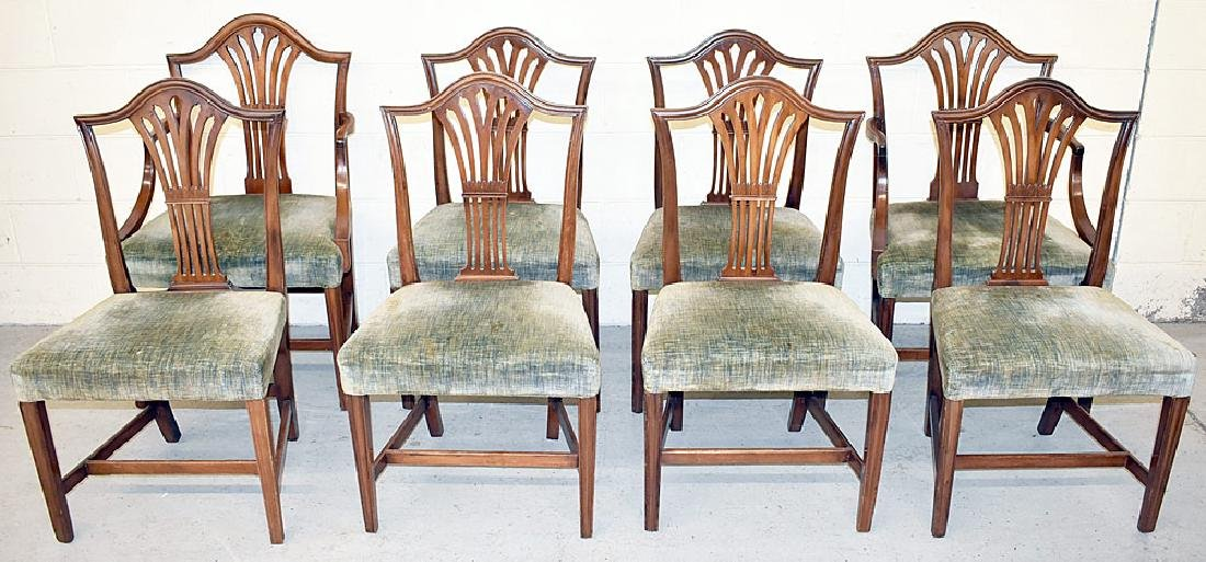 Eight Federal Mahogany Dining Chairs