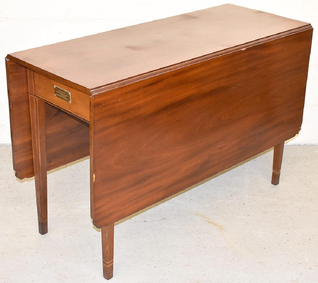 Federal Banded Mahogany Drop-Leaf Table