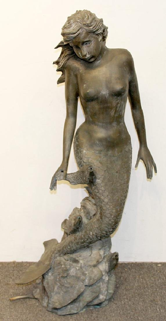 Bronze Mermaid Fountain