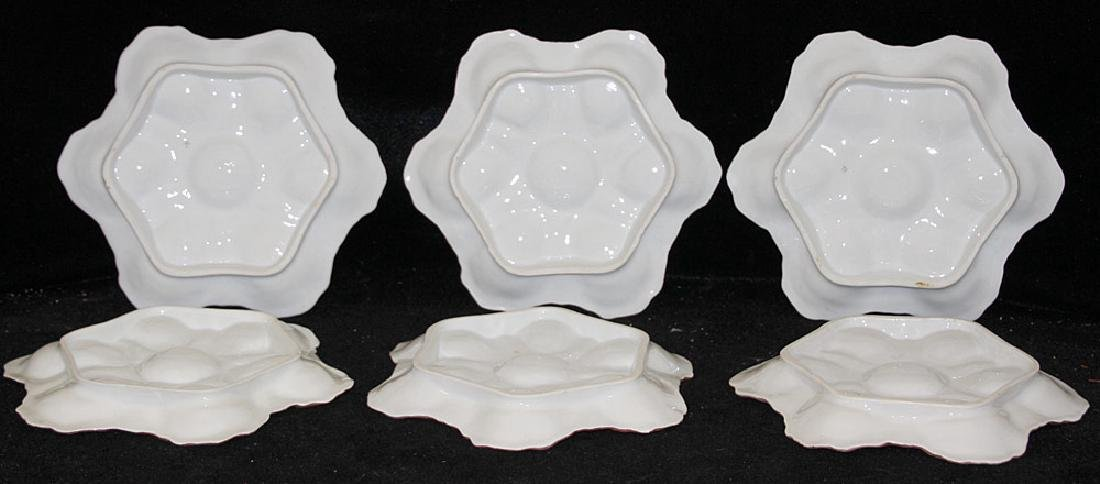Six Hand-painted Oyster Plates - 3