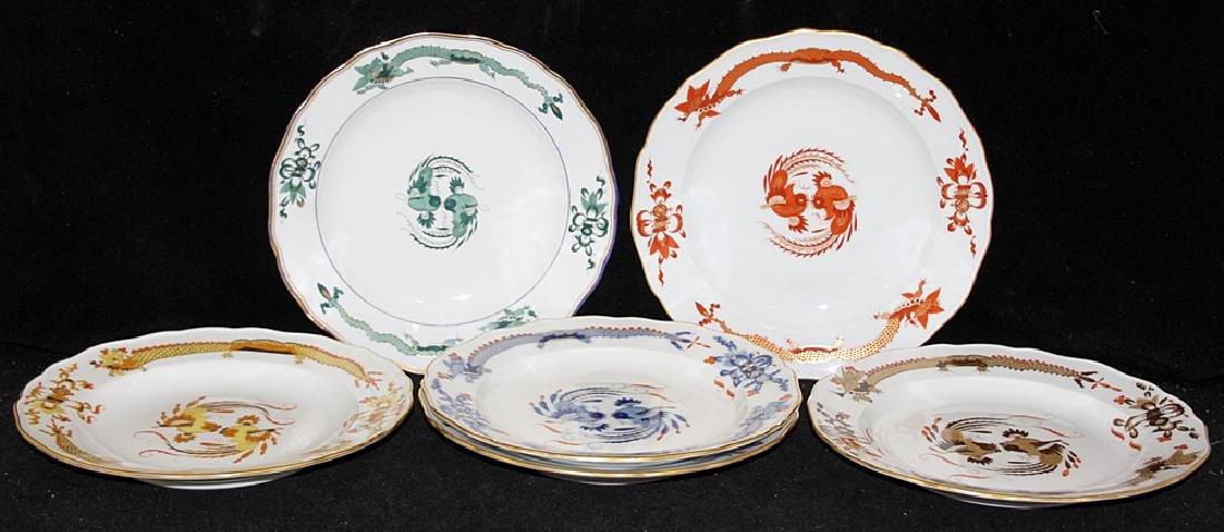 Six Meissen Porcelain Plates