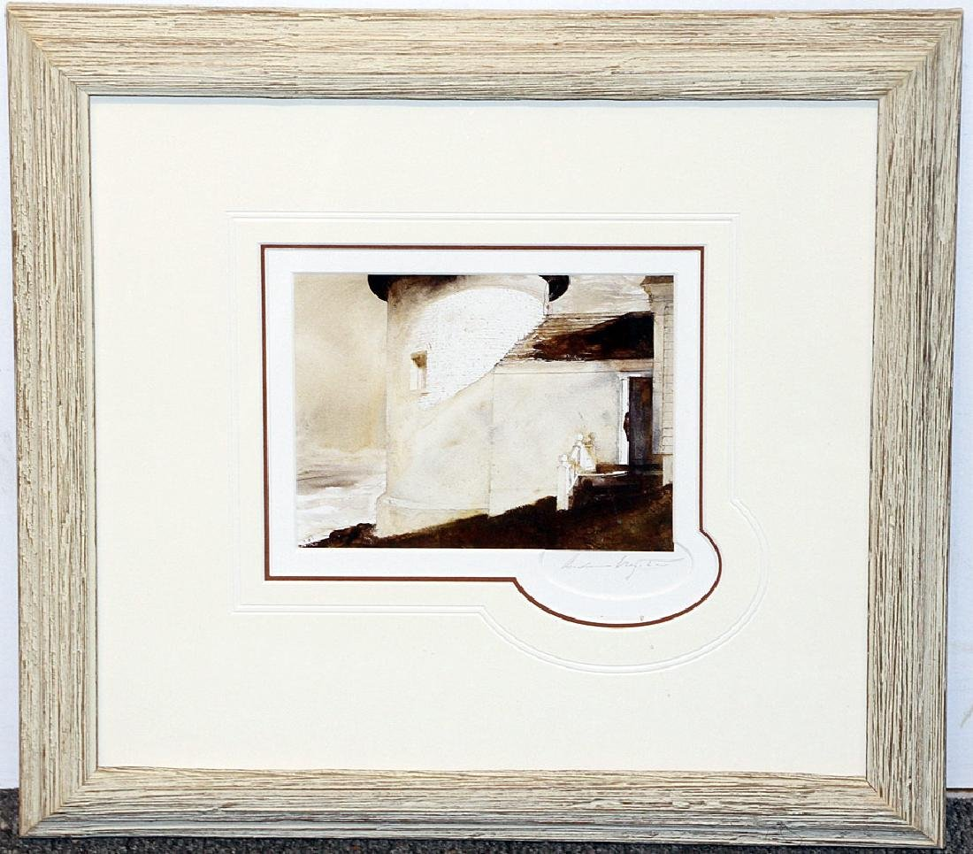 Signed A. Wyeth Print, By the Light of the Moon