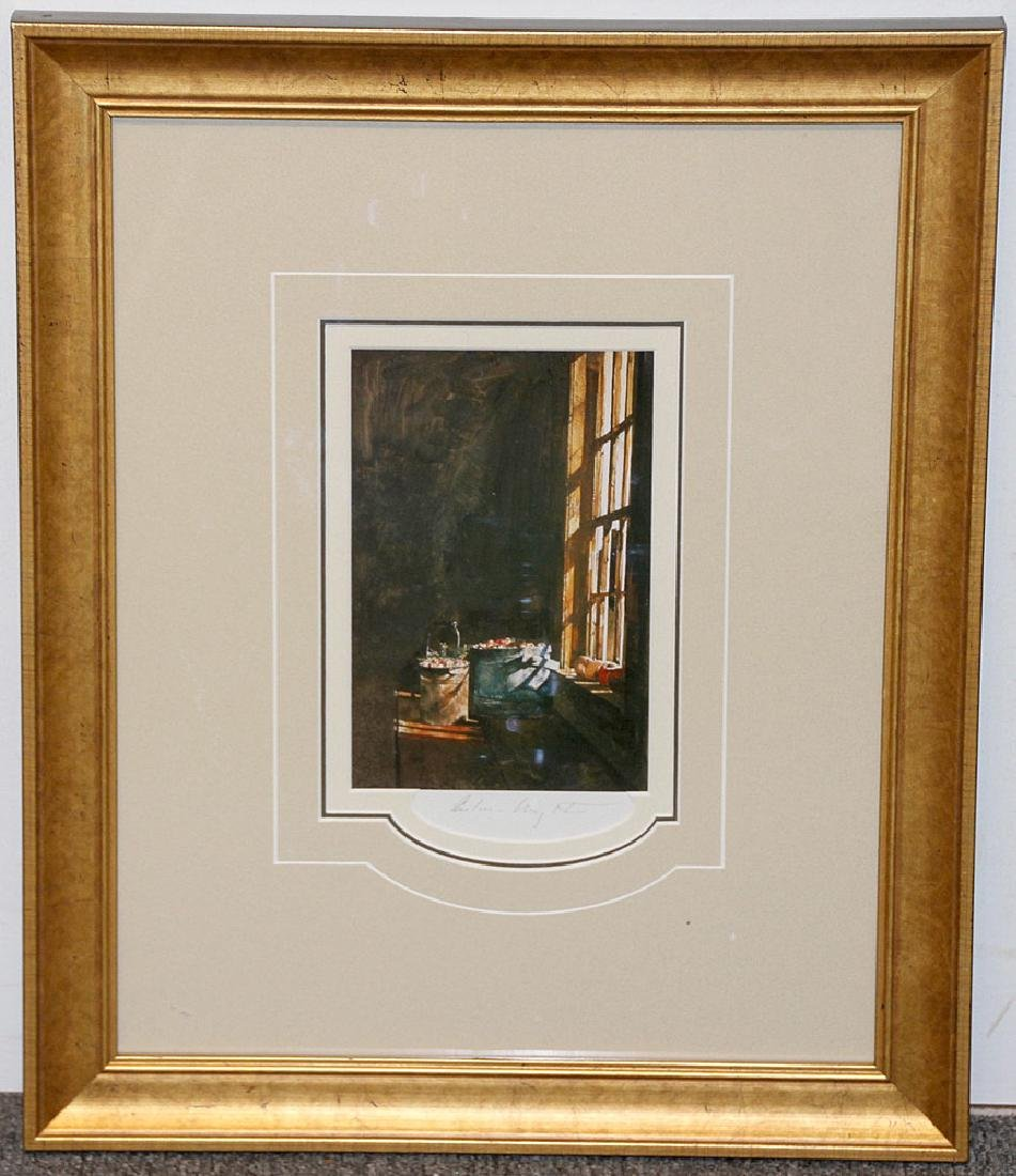 Pencil-Signed Andrew Wyeth Print, Cranberries