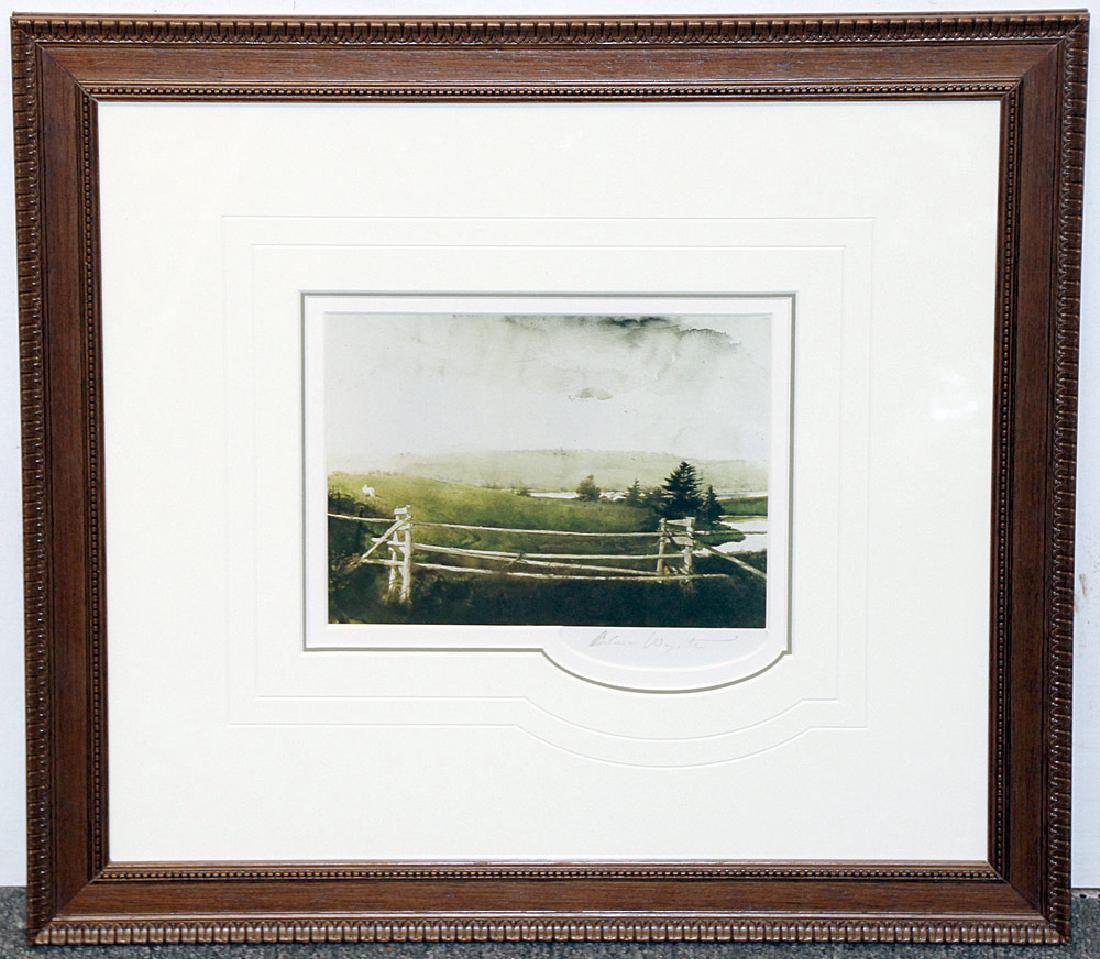 Pencil-Signed Andrew Wyeth Print, Toll Gate