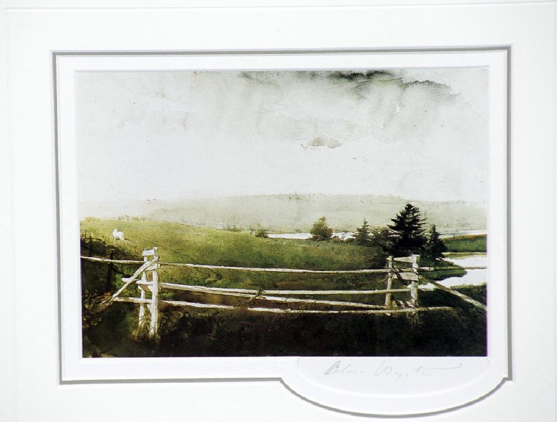 Pencil-Signed Andrew Wyeth Print, Toll Gate - 2