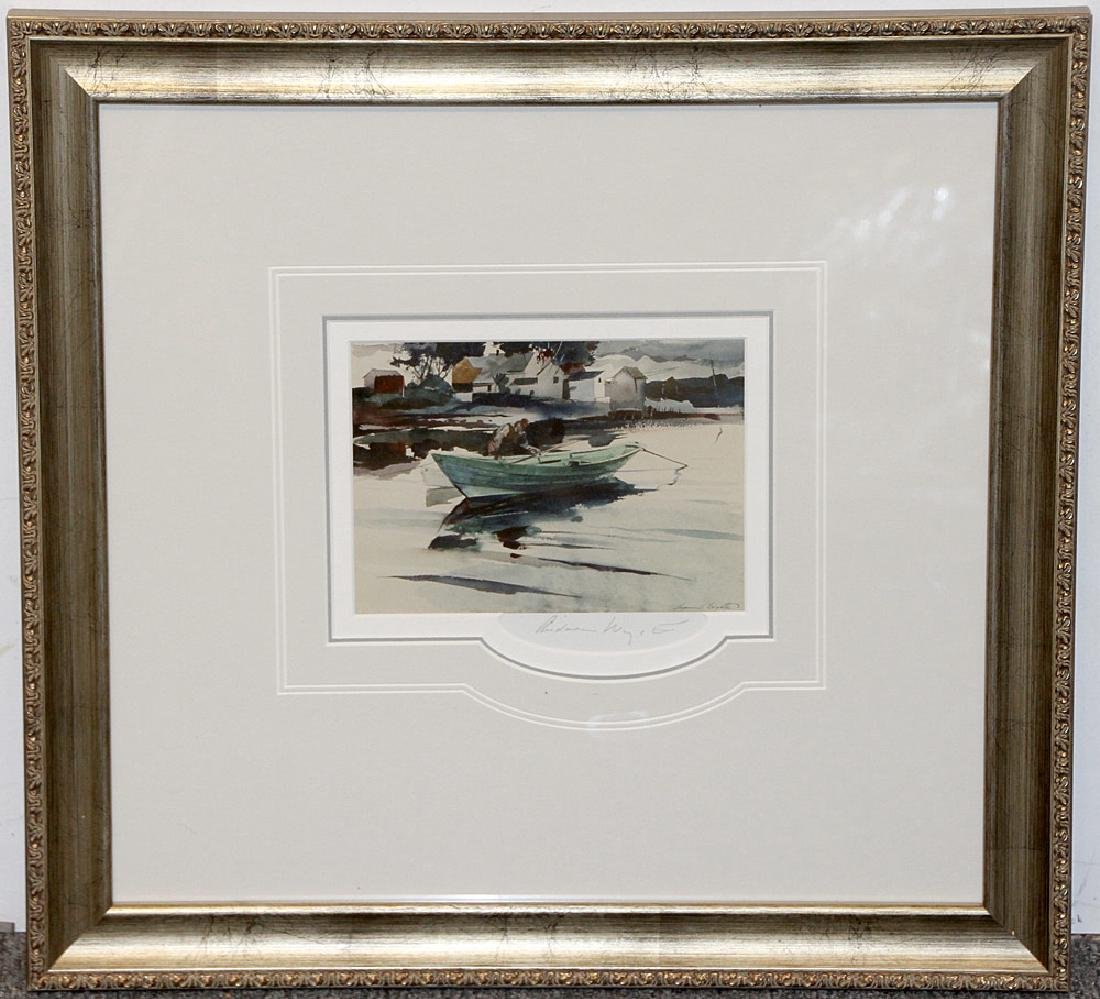 Pencil-Signed Andrew Wyeth Print, The Green Dory