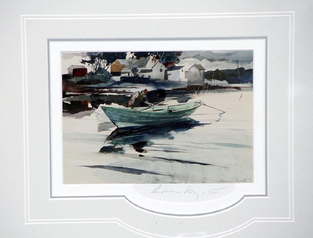 Pencil-Signed Andrew Wyeth Print, The Green Dory - 2