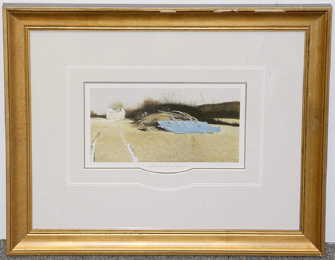 Pencil-Signed Andrew Wyeth Print, Flood Plain