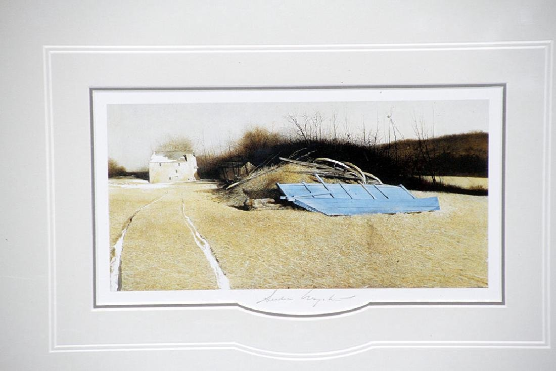 Pencil-Signed Andrew Wyeth Print, Flood Plain - 2