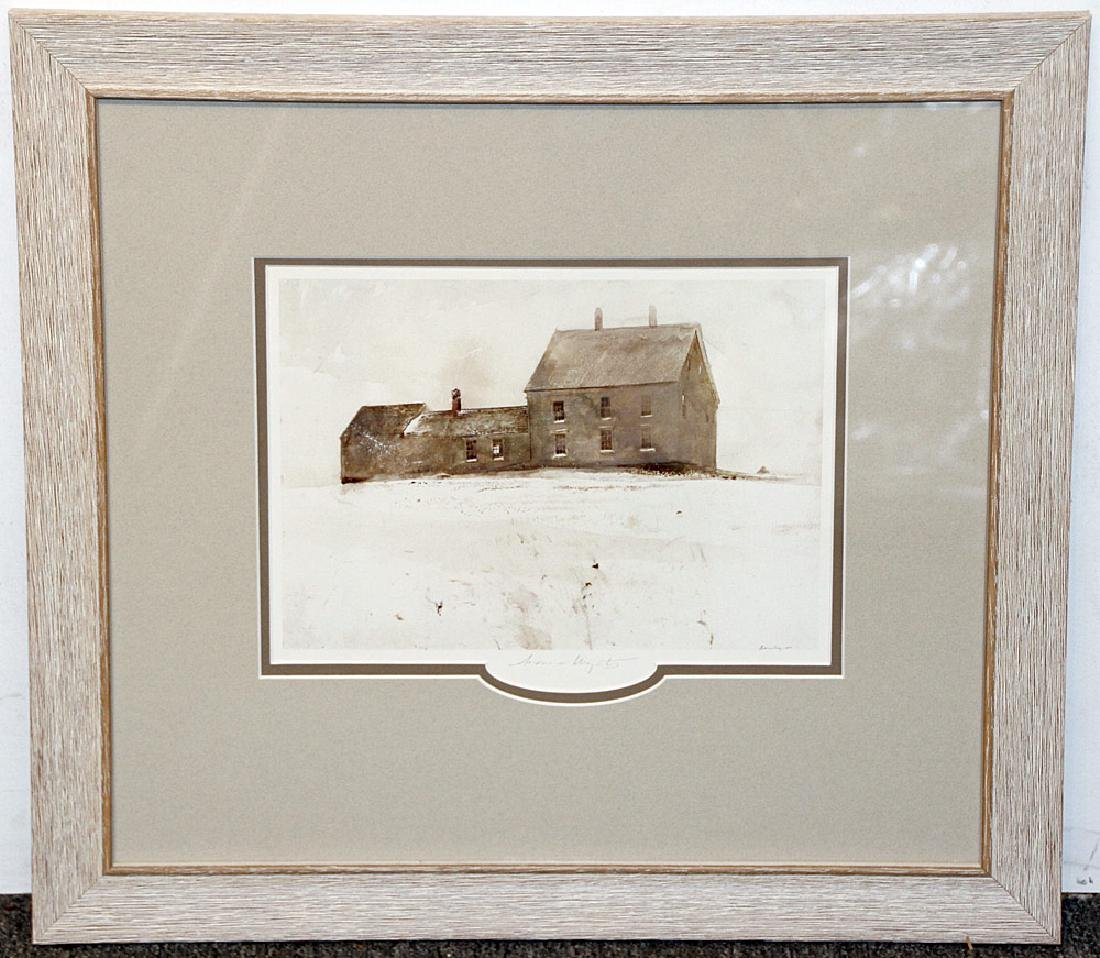 Pencil-Signed Andrew Wyeth Print, Olsen House