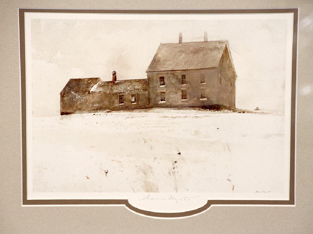 Pencil-Signed Andrew Wyeth Print, Olsen House - 2