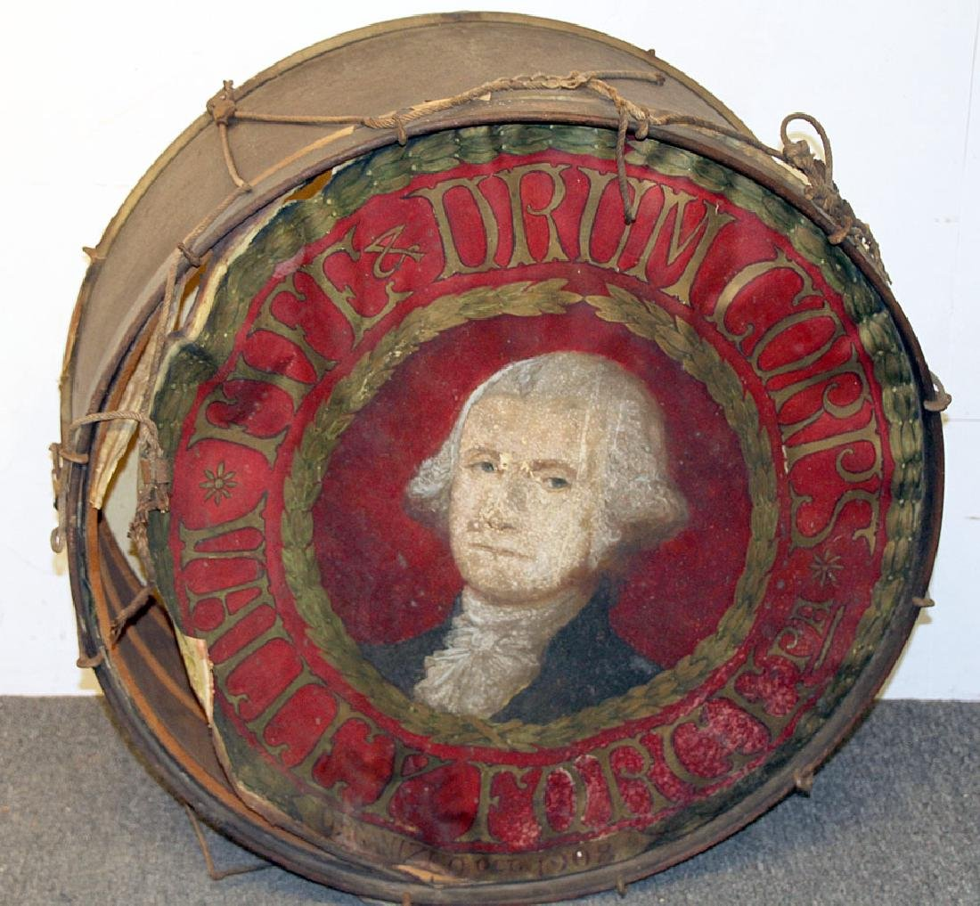 Valley Forge Fife & Drum Corps Painted Drum