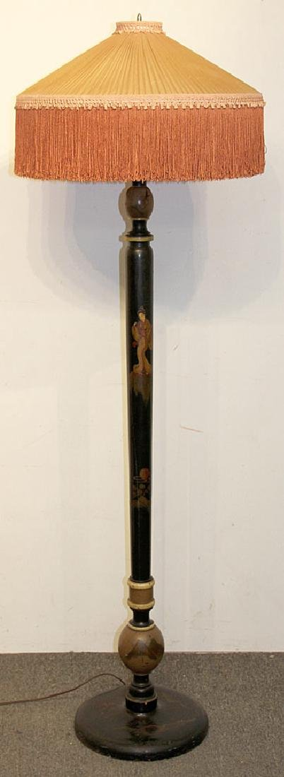 Chinoiserie Wood Floor Lamp