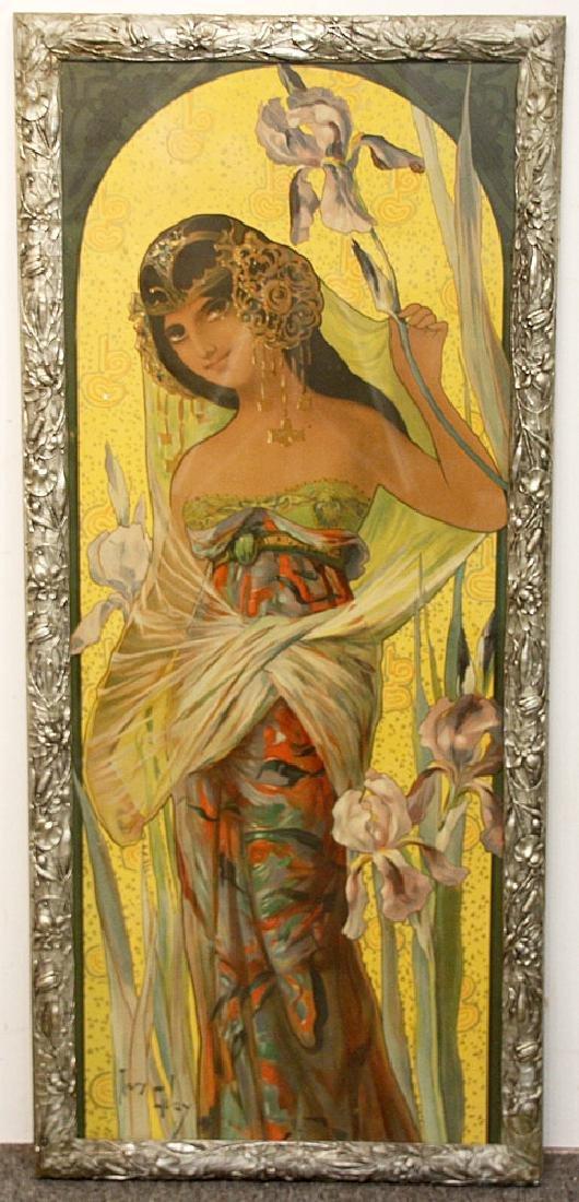 Mary Golay Color Lithograph, Iris Seduction