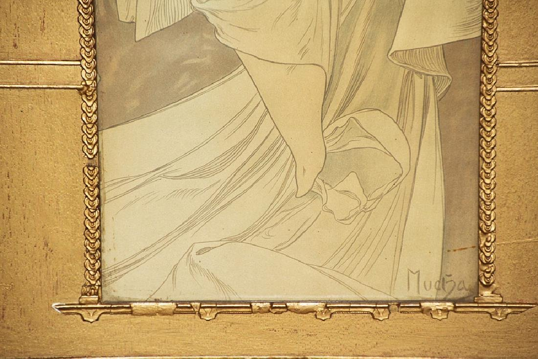 Alphonese Mucha Color Lithograph, Standing Woman - 3