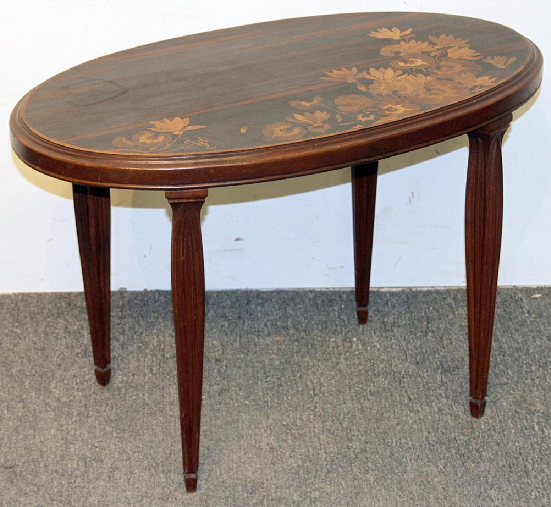 Galle Marquetry Side Table