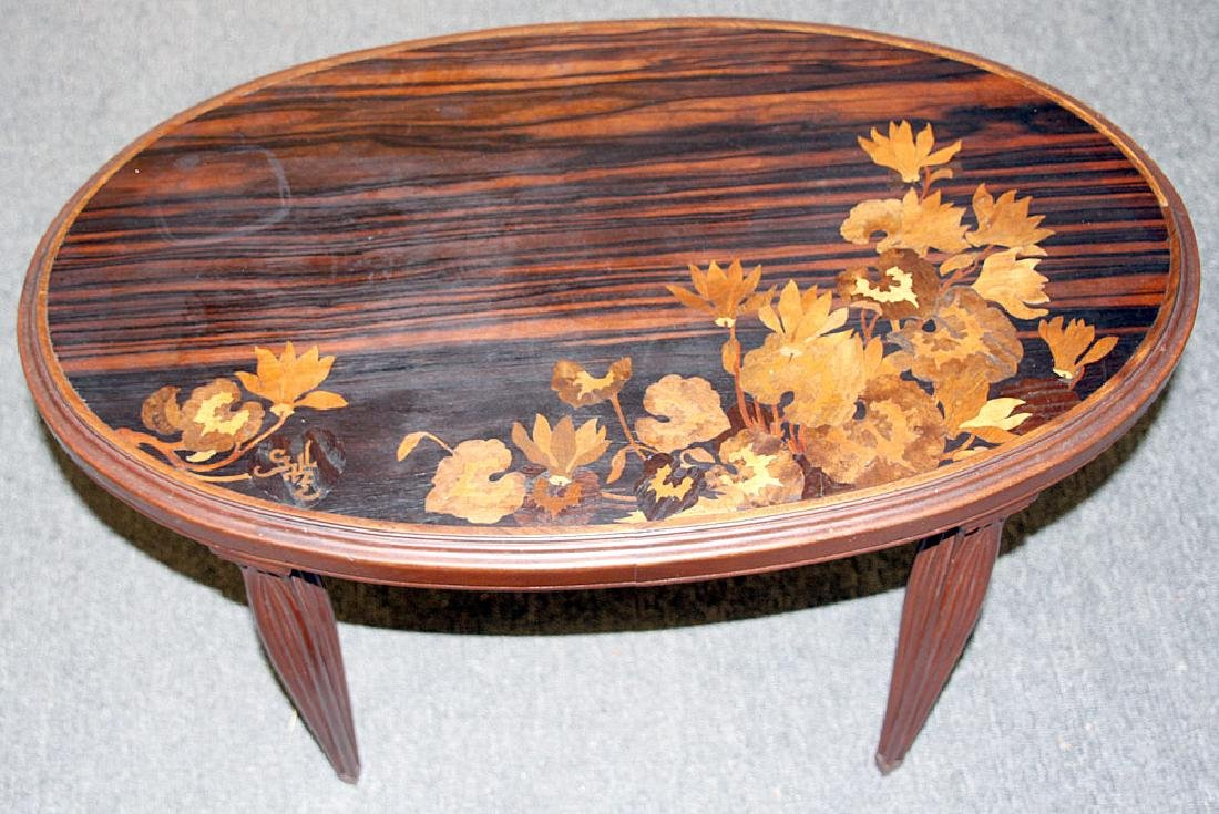 Galle Marquetry Side Table - 2