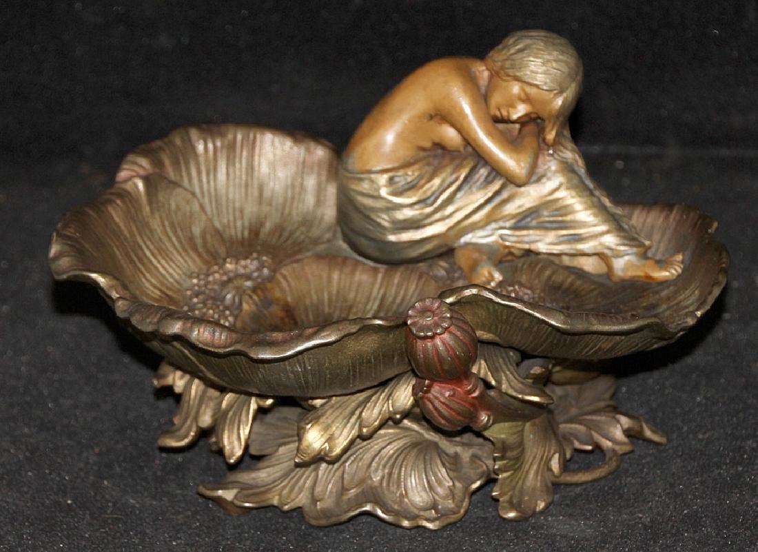 Art Nouveau Figural Pin Tray