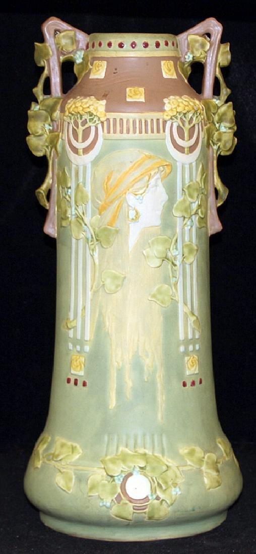 Large Art Nouveau Pottery Vase
