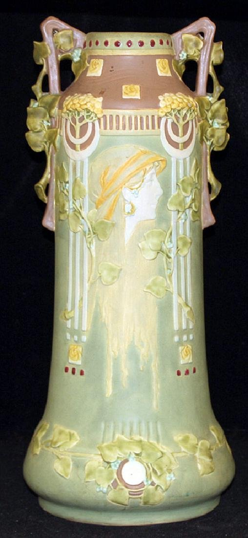 Large Art Nouveau Pottery Vase