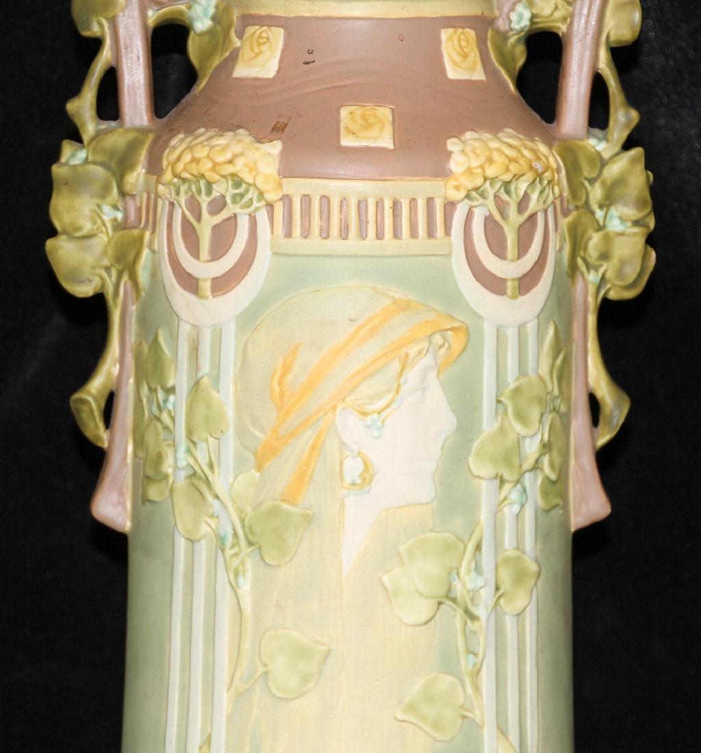 Large Art Nouveau Pottery Vase - 2