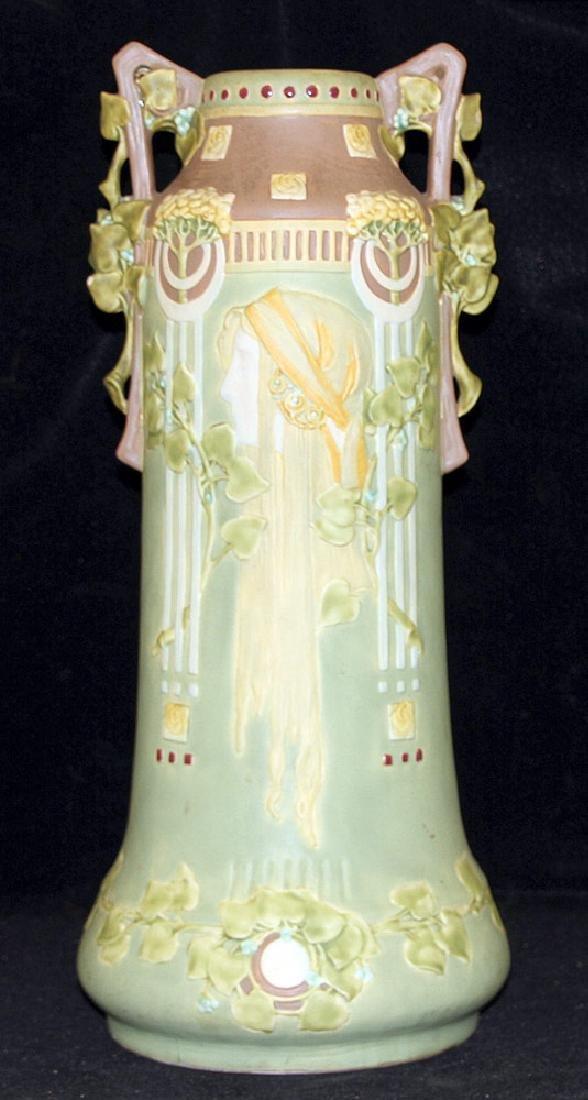 Large Art Nouveau Pottery Vase - 3