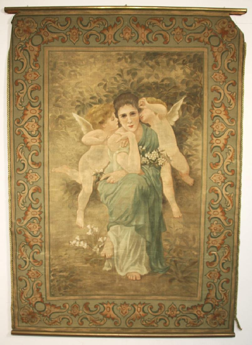 Art Nouveau Painted Tapestry