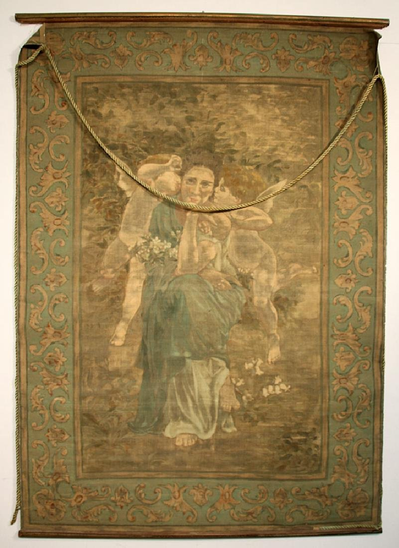 Art Nouveau Painted Tapestry - 4
