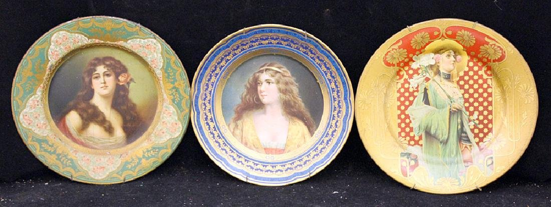 Three Tin Litho Art Plates