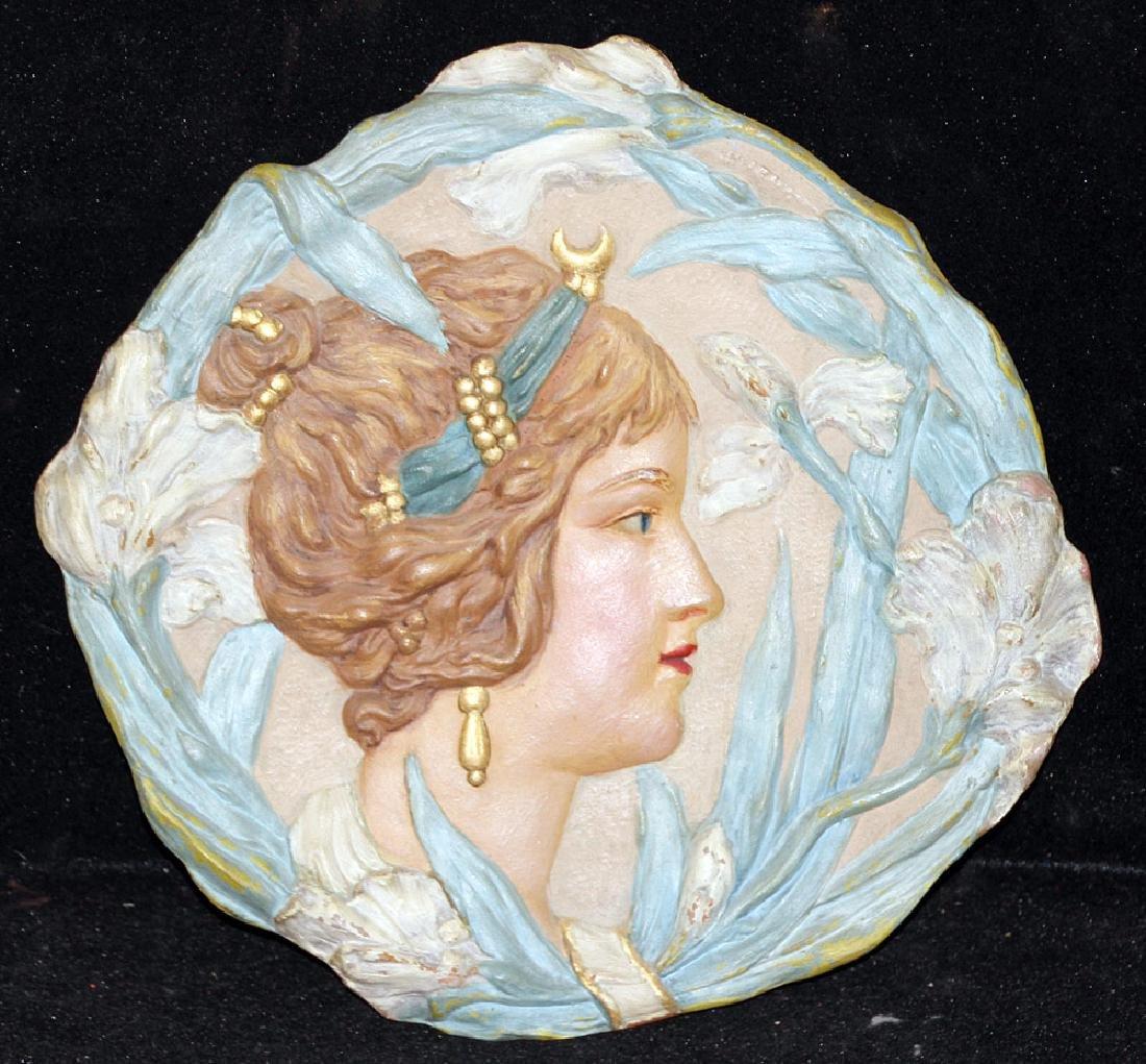Ernst Wahliss Art Nouveau Pottery Plate