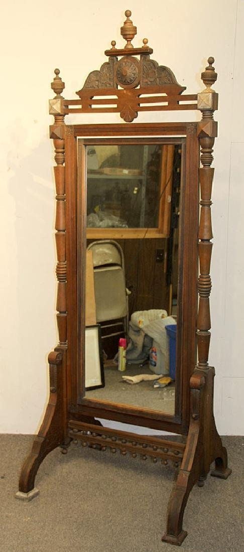 Victorian Eastlake Cheval Mirror