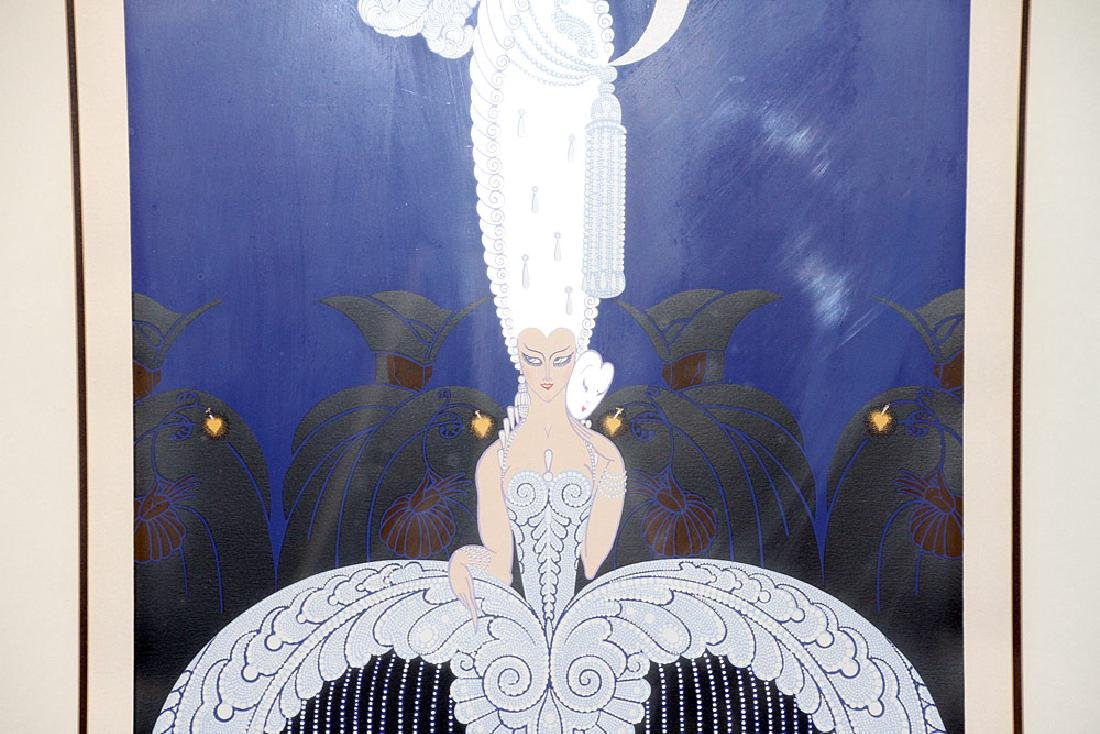 Pencil-Signed Erte Serigraph, Art Deco Woman - 2