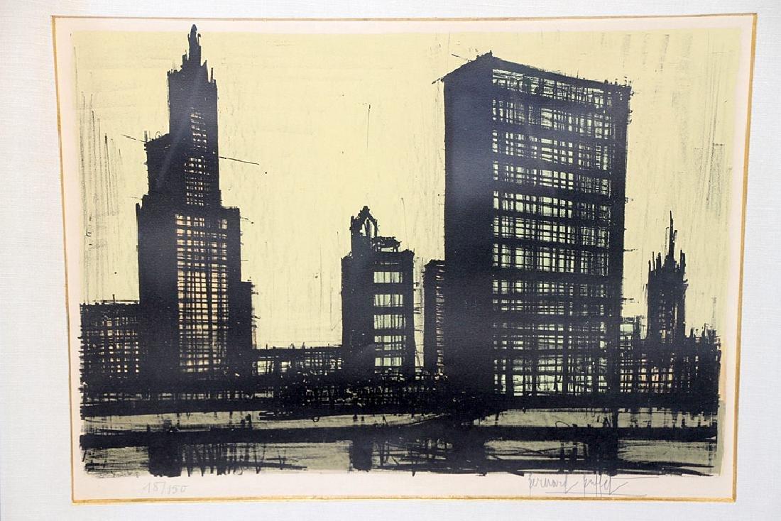 Bernard Buffet Color Lithograph, Cityscape - 2