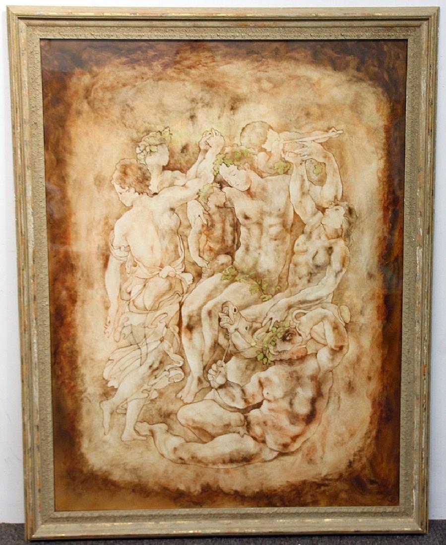 John Wissemann Watercolor, Figures