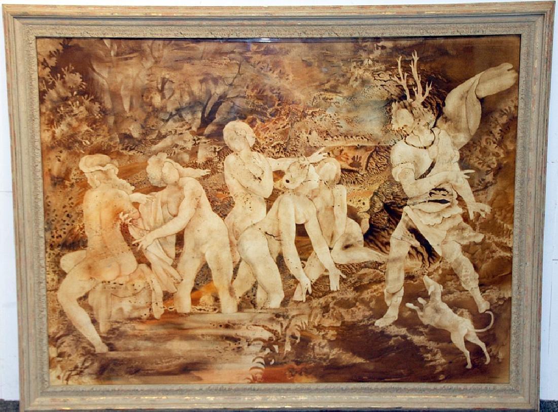 John Wissemann Watercolor, Bathers