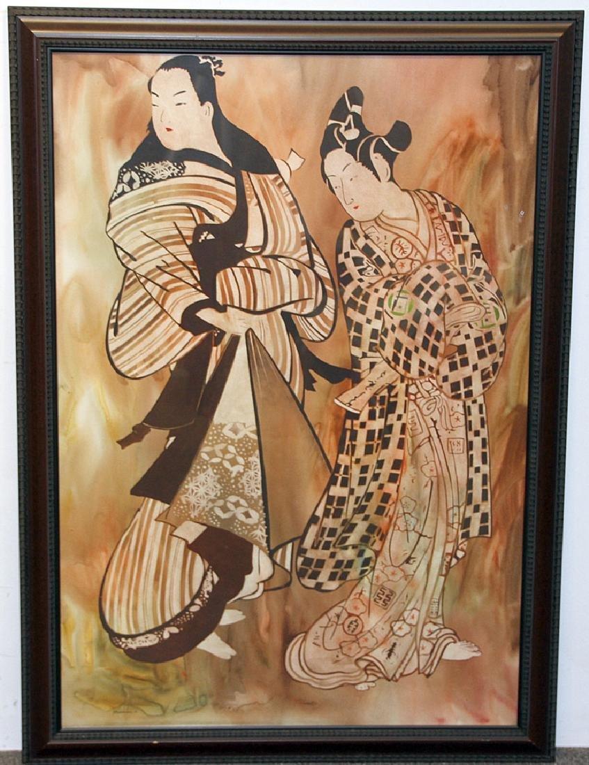 John Wissemann Watercolor, Two Women