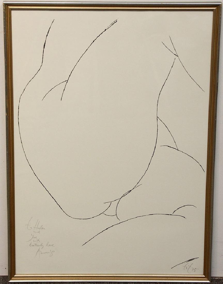 Amerigo Tot Serigraph, Nude Form