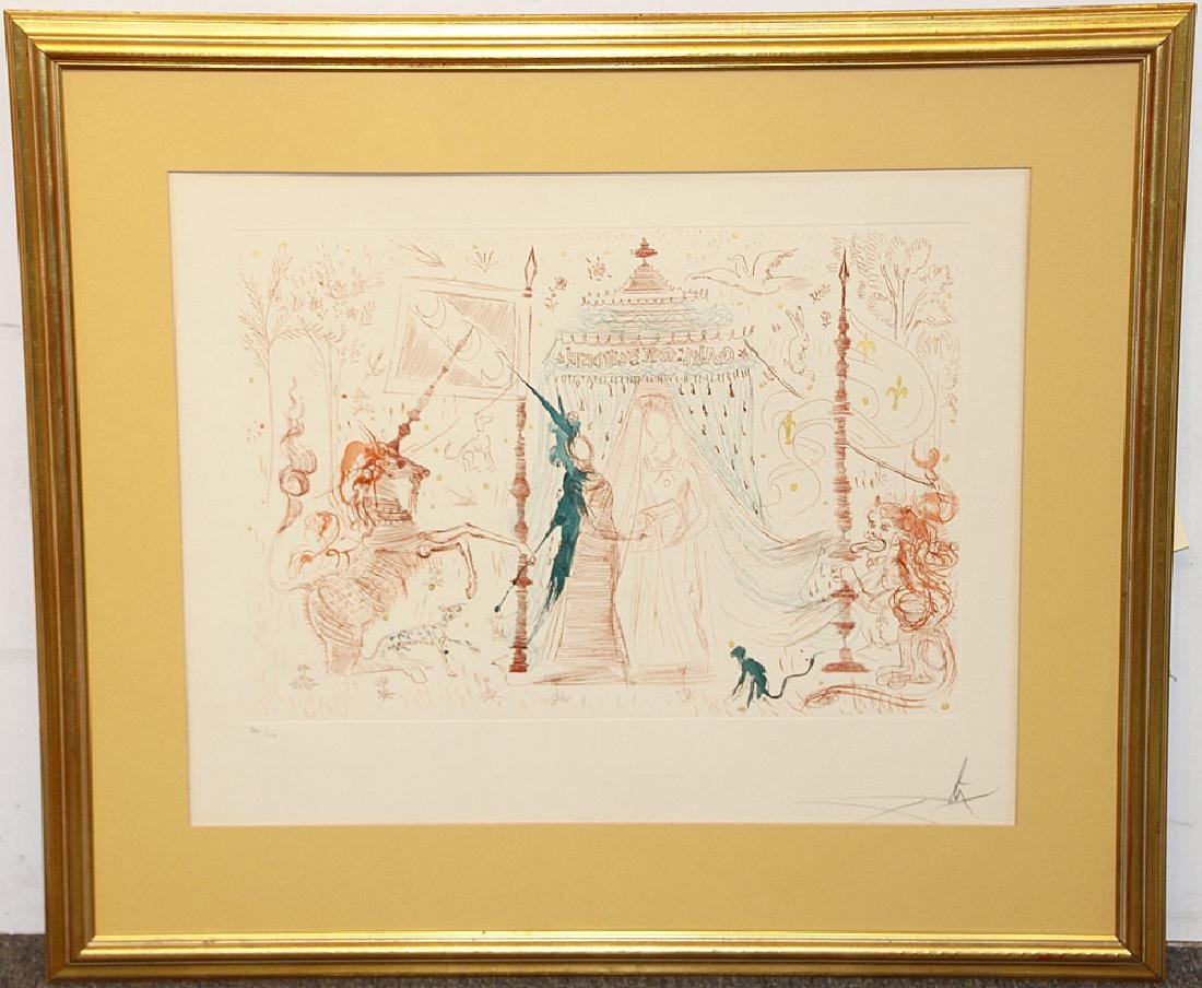 Salvador Dali Aquatint Etching, Gala…